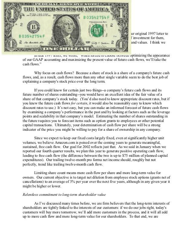 dollar on sales letter