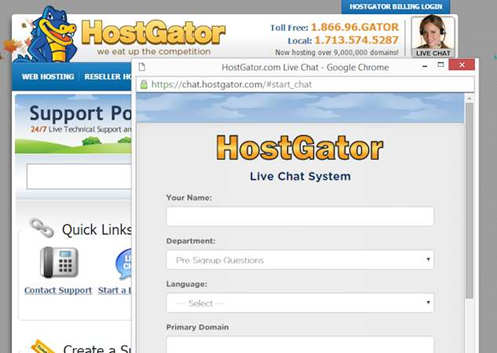 host gator chat system