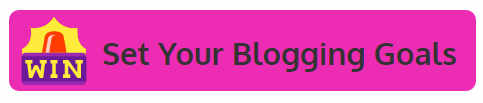 blogging goals