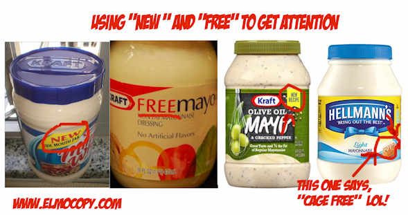 using free and new in advertising