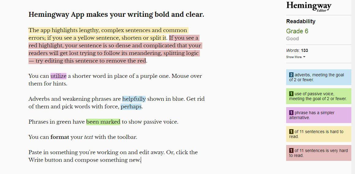 make writing easier