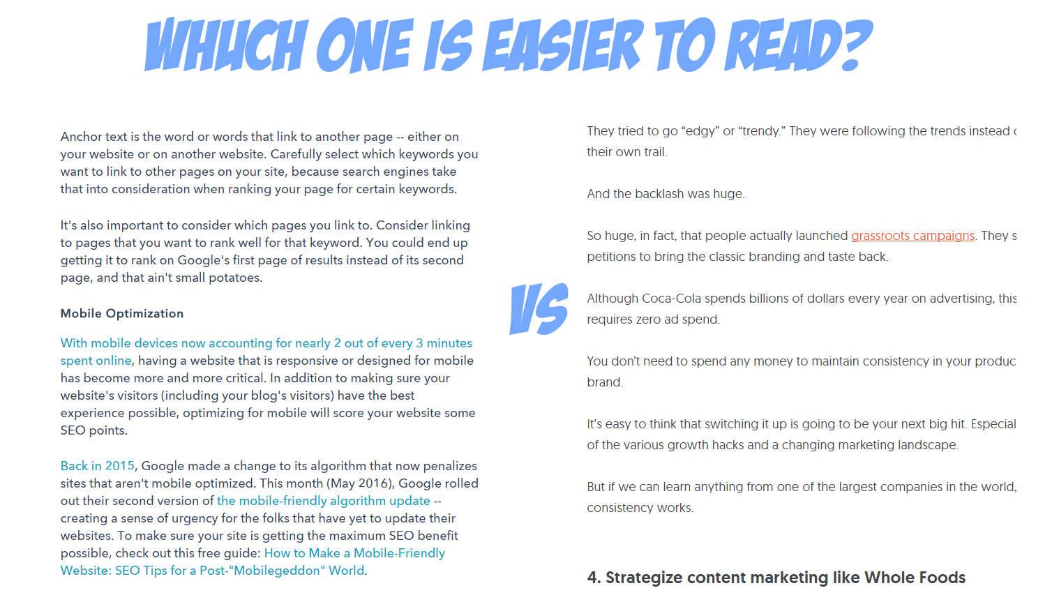 copy readability