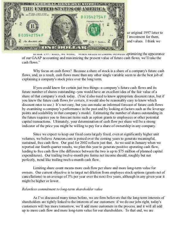 When Was Thwe First Dollar Bill Letter Sent